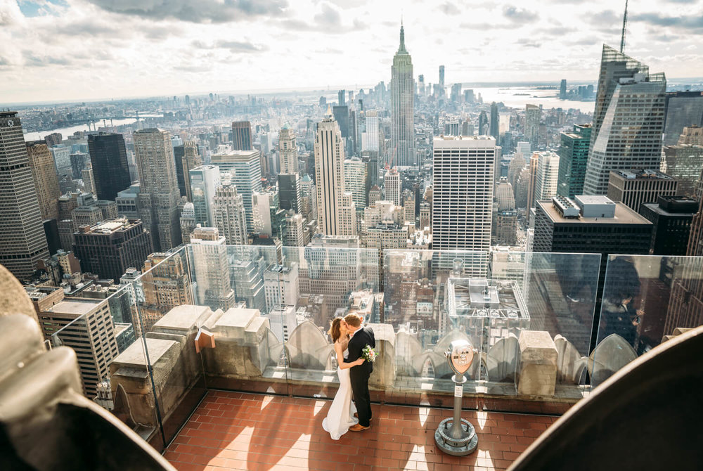 Wedding photo at Top of The Rock