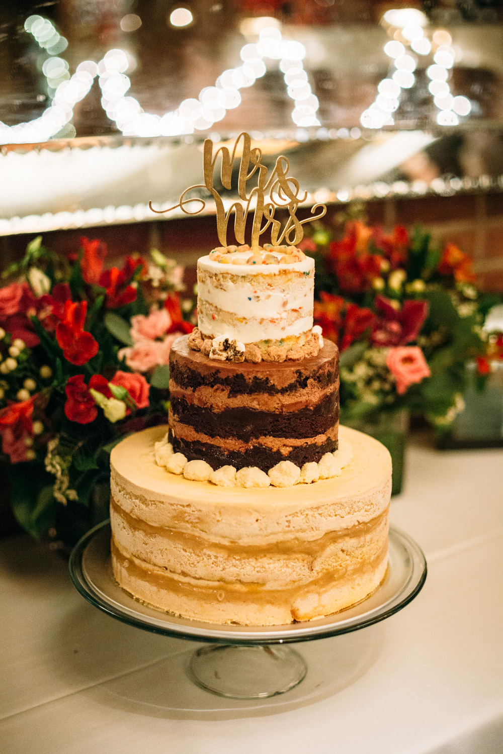 THIS delicious tiered wedding cake from Momokuku Milk Bar