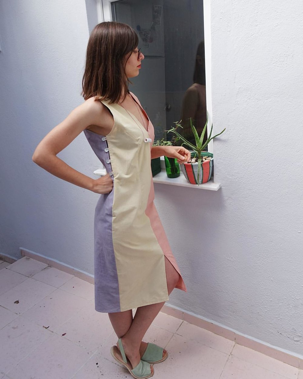'Four seasons' dress. Here we can see spring, summer and winter.