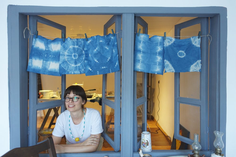 Indigo show! If you are interested in my natural dyeing workshops, please feel free to contact me.
