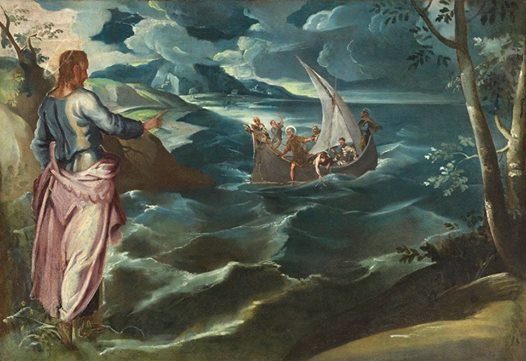 Jacopo Tintoretto had his imagination captured by Jesus's power over the chaos of a stormy sea in the 1570s. He created this beauty that now hangs in the National Gallery of Art in DC.