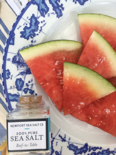 Sea Salt and Fresh watermelon, go ahead, try it. Dessert side life changer!