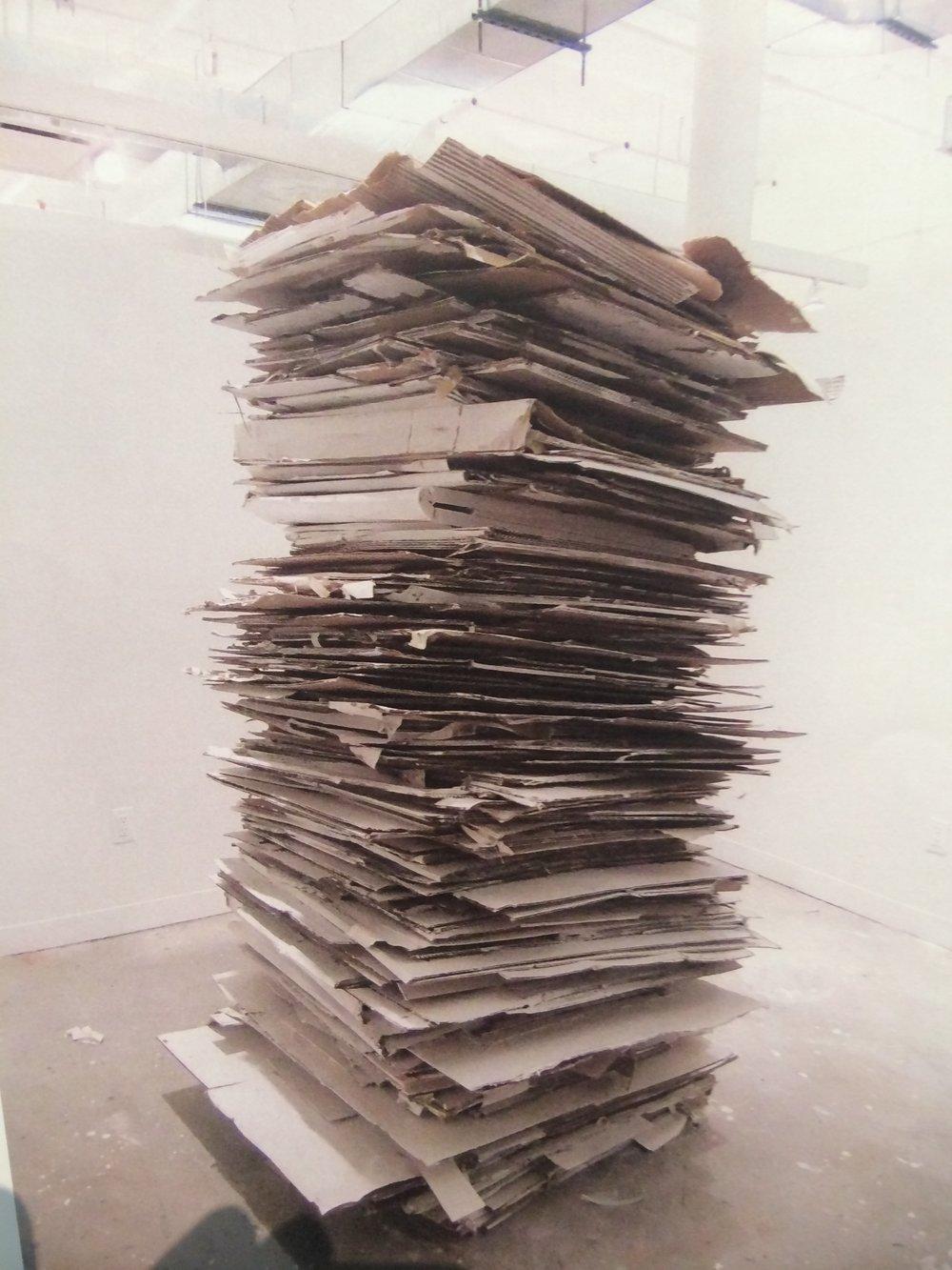 "Cardboard, Paint  32""x84"""