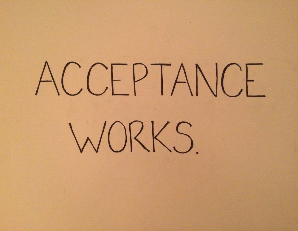 acceptance.
