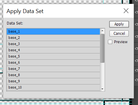 Image > Apply Data set... (the data sets will show up if a valid file is imported)