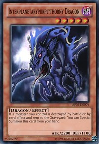 """Let's talk about that dragon card....that purply thorny one."""