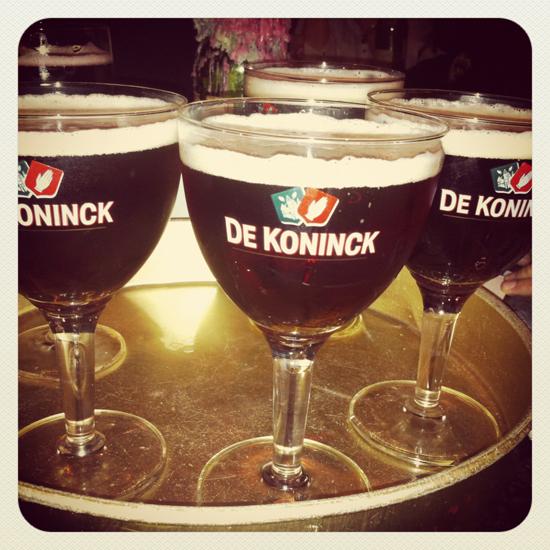 De Koninck a well deserved drink