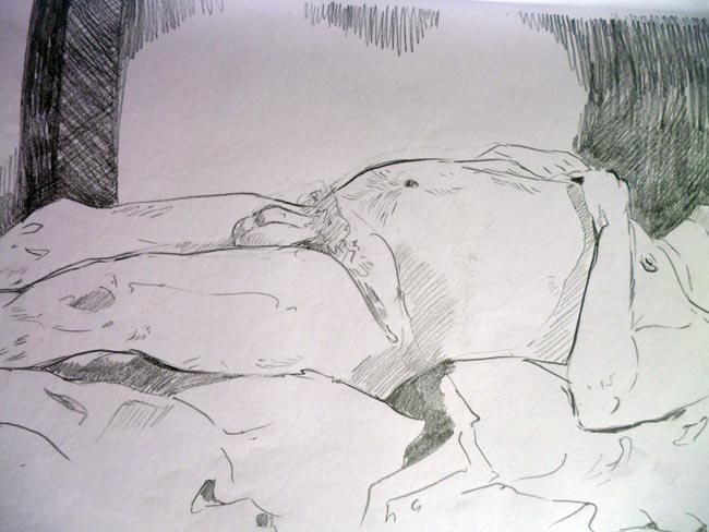 Life Drawing at the Pat Kav 2012