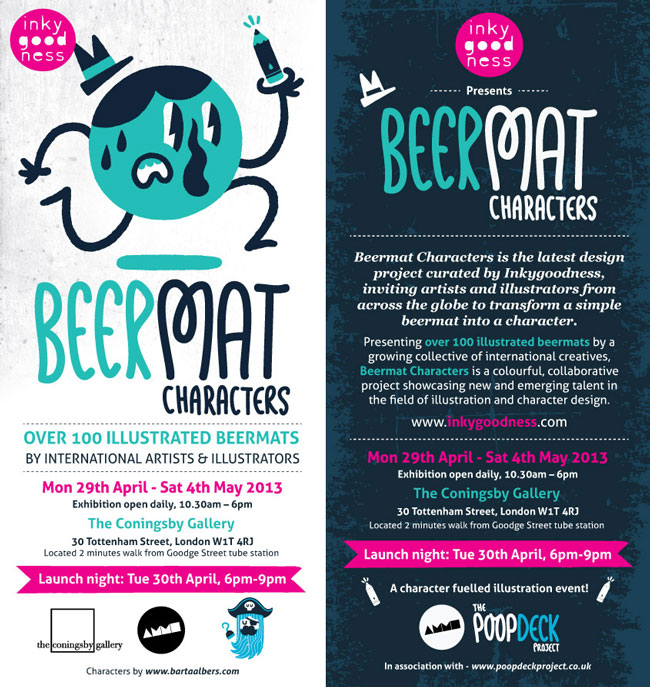 Inkygoodness Beermat Characters Flyer