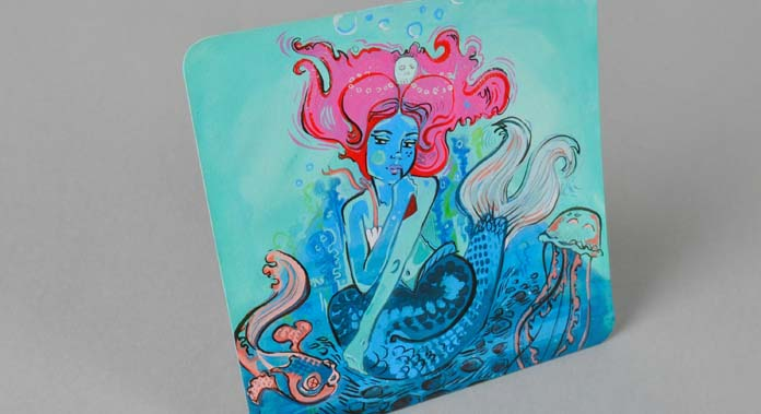 Final Piece - Ondine for Inkygoodness' Beermat Characters Exhibition