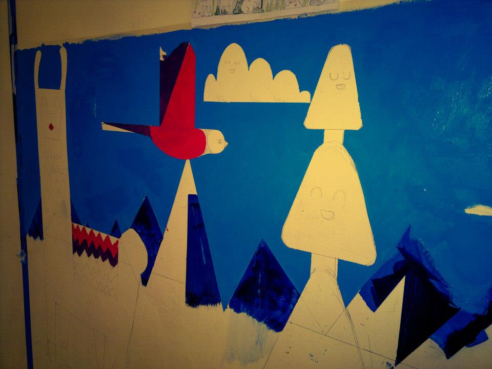 wall mural work in progress