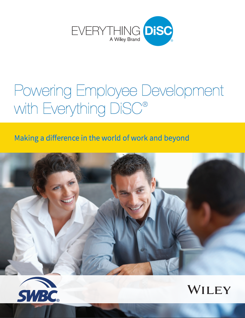 Powering Employee Development with Everything DiSC   Learn how Southwest Business Corporation (SWBC) implemented Everything DiSC into their organization and how it became the cornerstone of their corporate training program.