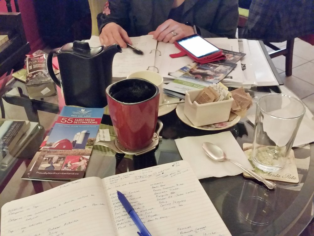 The Northumberland Life's business meeting over cappuccinos and chai tea.