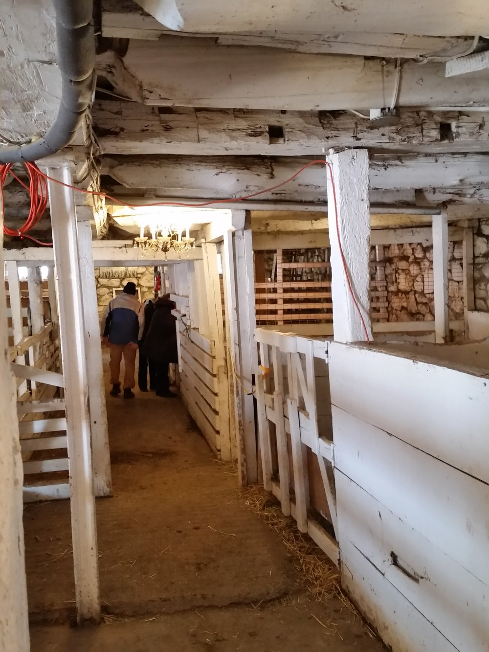 The Interior of the barn.