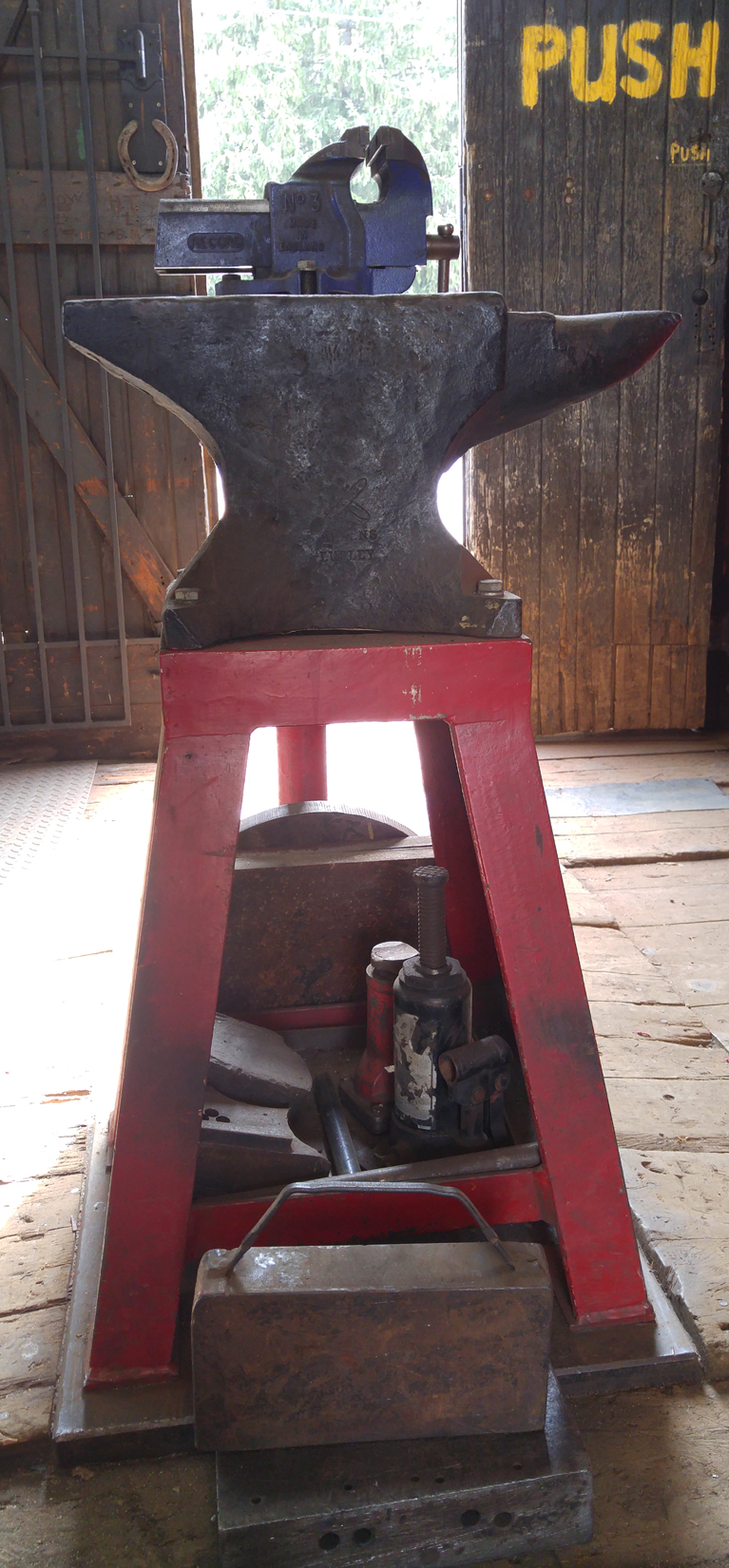 The massive anvil at Baltimore Wrought Iron.