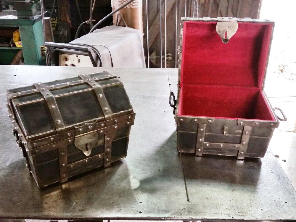 Custom made treasure chests.