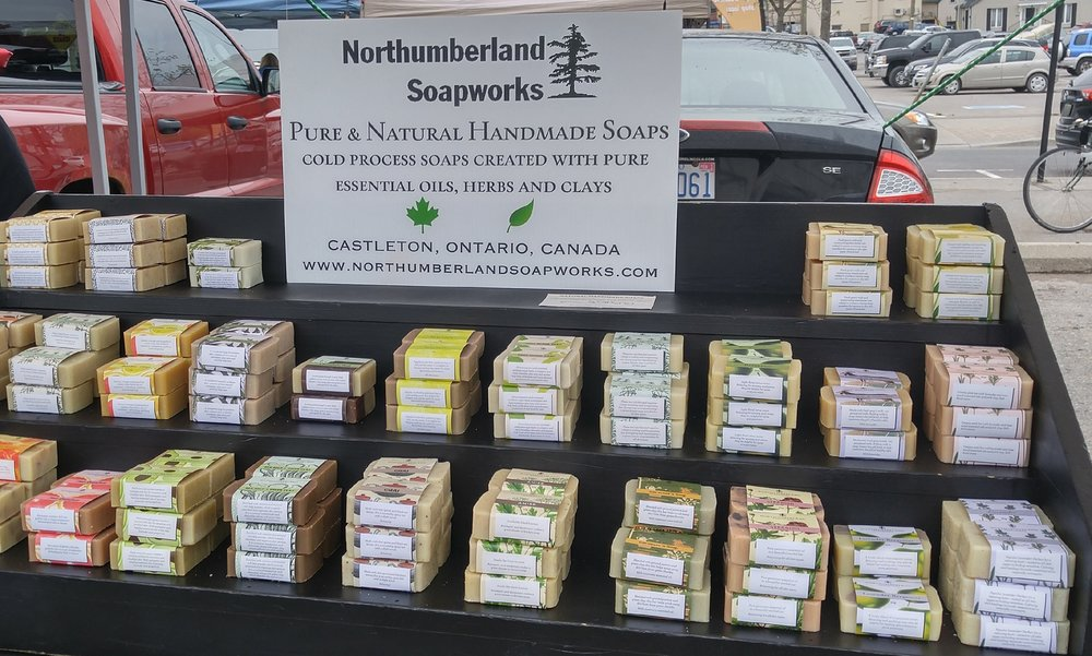 Lots of hand crafted soap.