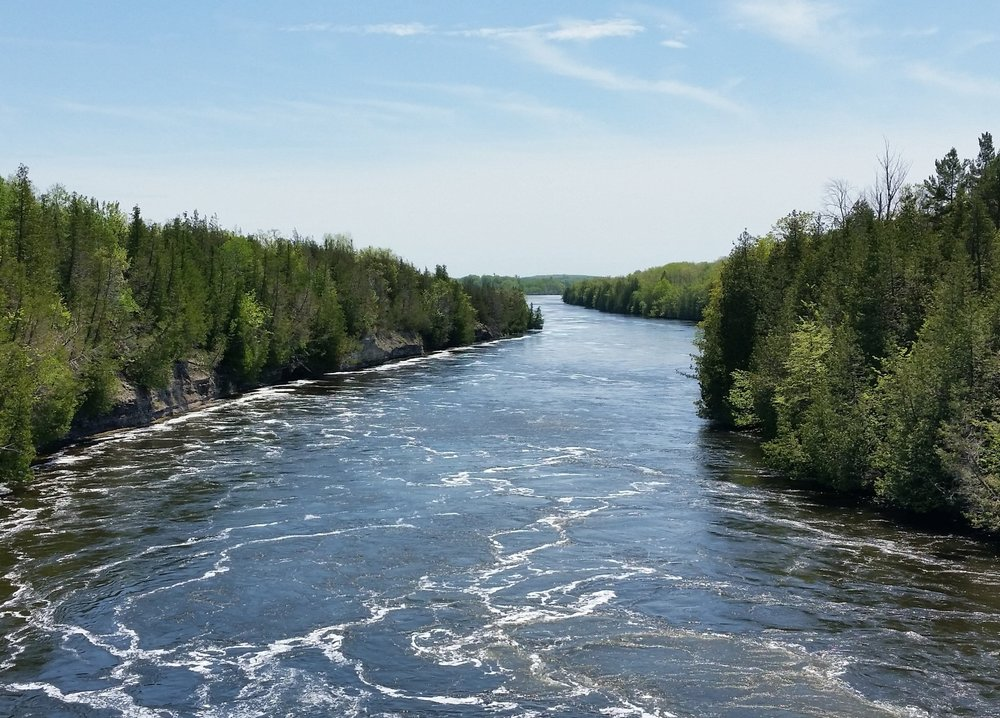 The Trent river, flowing through the gorge.