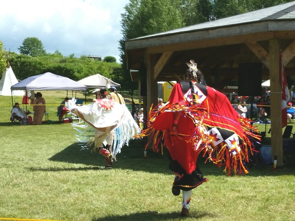 Fancy Shawl Dancers.