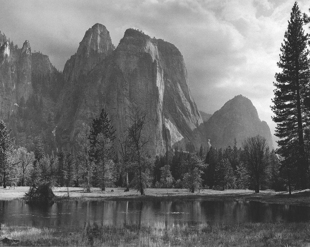 Cathedral Rocks, Yosemite, 1949 - Ansel Adams