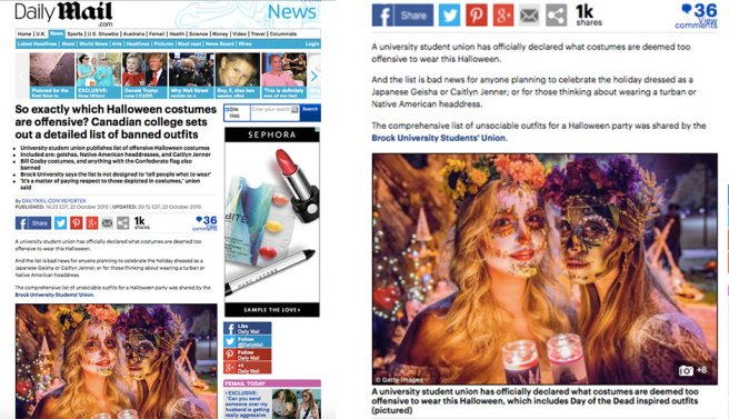 The    Daily Mail    article mentioned above used photographer Triatan Savatier's photograph of us at last year's Día de los Muertos Celebration in San Francisco.