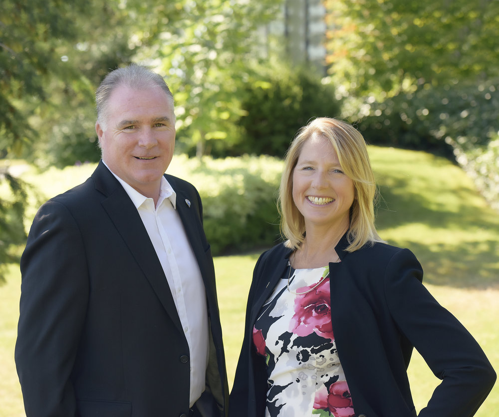 bill anglin and michele courtney, sales team