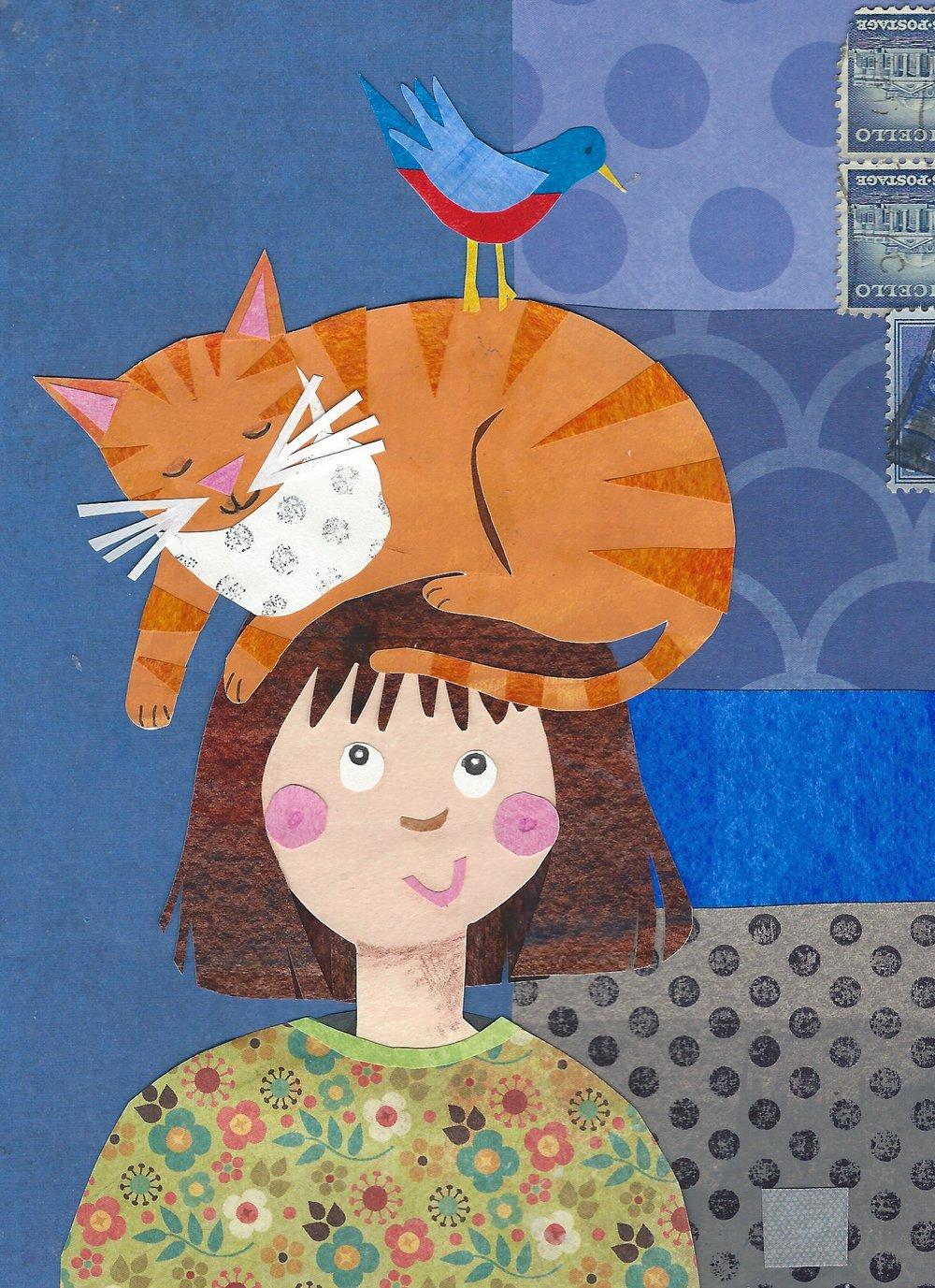"""""""Cat Hat"""" Cut Paper 5x7"""
