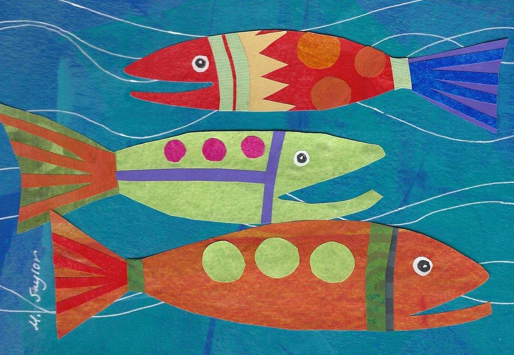 """Fish"" Cut Paper  5x7"