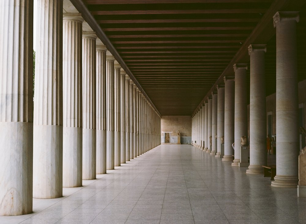 The reconstructed Stoa of Attalos, a stone-throw away from the birthplace of Stoicism.