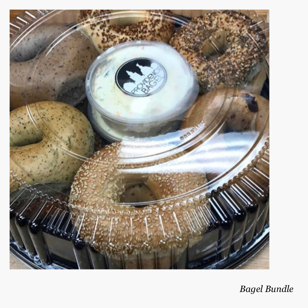 They offer this bagel bundle for meetings, events, parties ... anytime you want to be a total star when meeting with people!