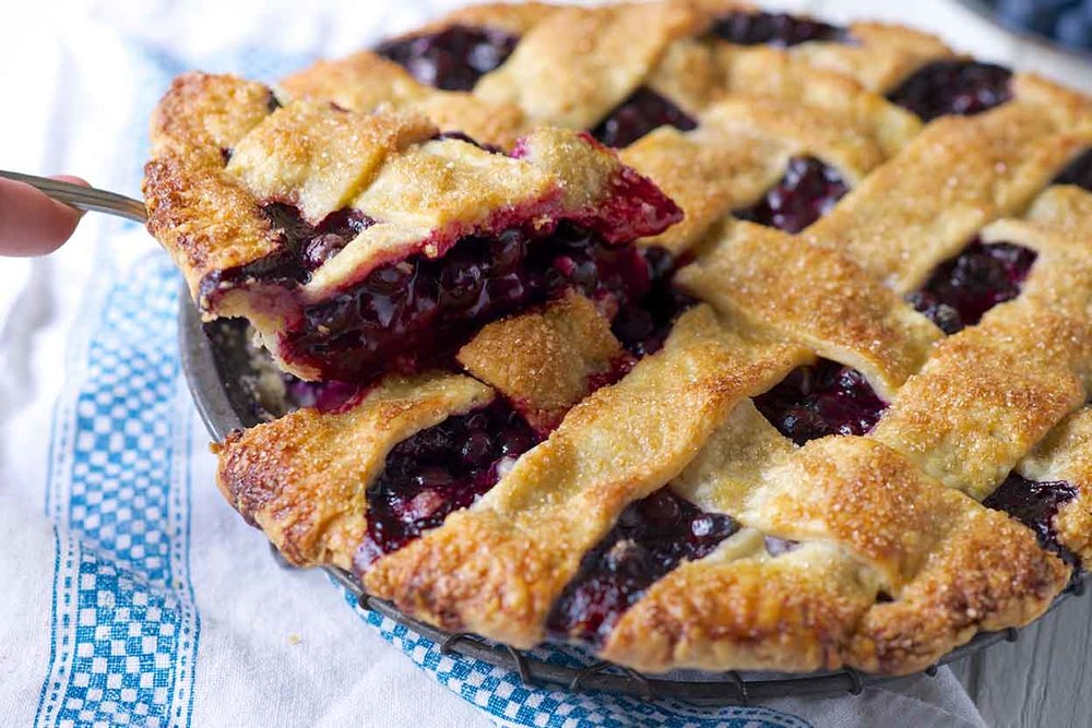 Blueberry Lattice Pie   http://www.kingarthurflour.com/recipes/blue-ribbon-blueberry-pie-recipe