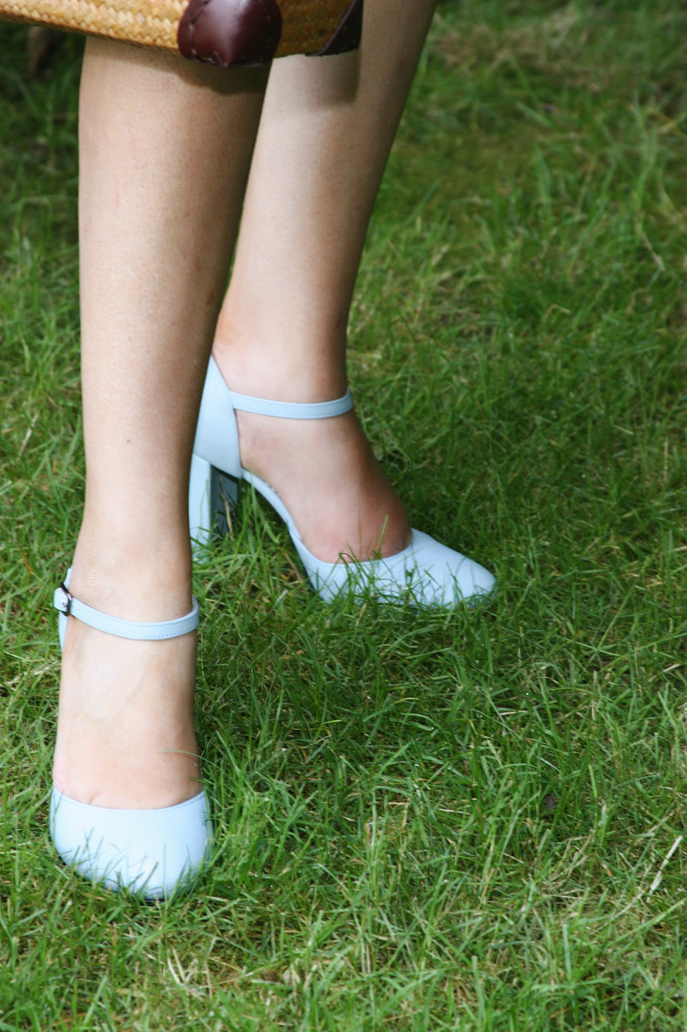 Find the Bleu de France Block Pumps  here .