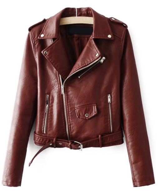 Find this Faux Leather Moto-Jacket  here .