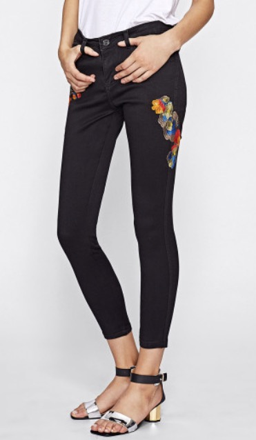 Find the Embroidered Skinny Jeans  here .