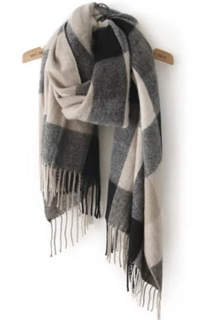 Plaid   Tassel   Classical   Scarf  $13.00