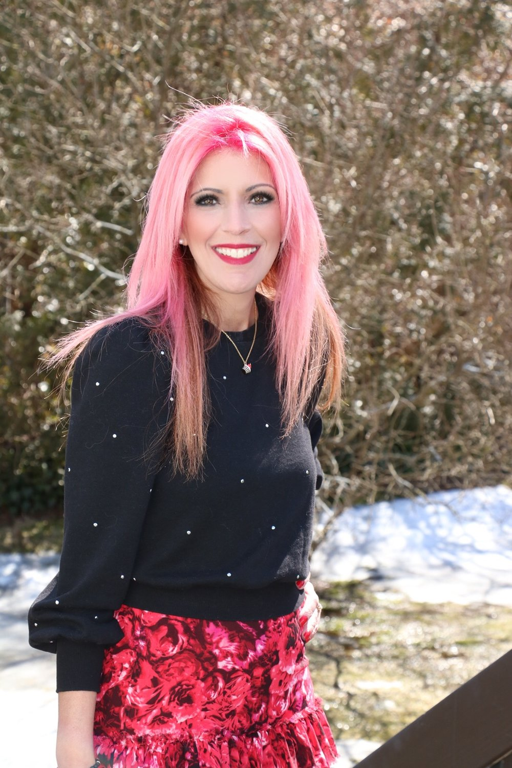 My hair was colored and styled by the amazing, talented, and creative Jannine Maynard of  Meraki   Salon , in Johnston, Rhode Island.