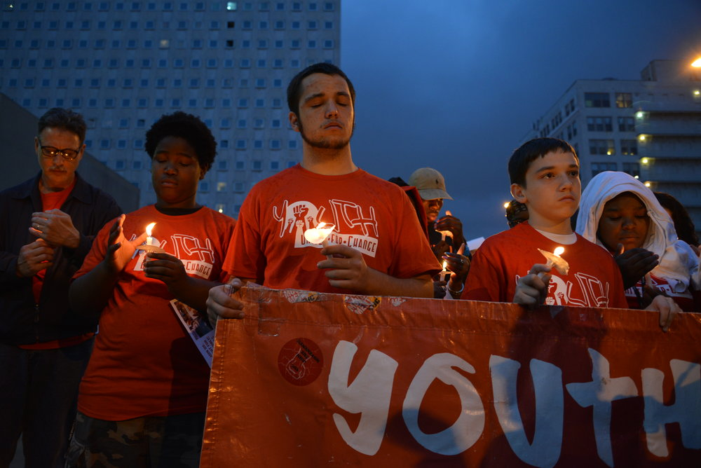 201310 Vigil with students mourning.JPG