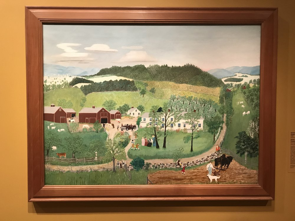 """Grandma Moses Goes to the Big City"" 1946"