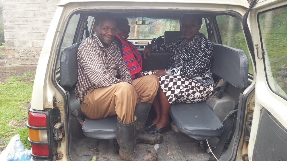 VERY CRAMPED SEATING IN THE PAJERO