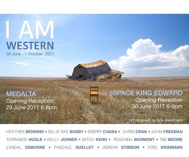Last chance to take in #iamwestern  this weekend at @cspacekingedward, come enjoy Alberta Culture days Friday (tomorrow) through Sunday. We will be there in person to answer any questions about the exhibition and the 14 artists involved. See you there!