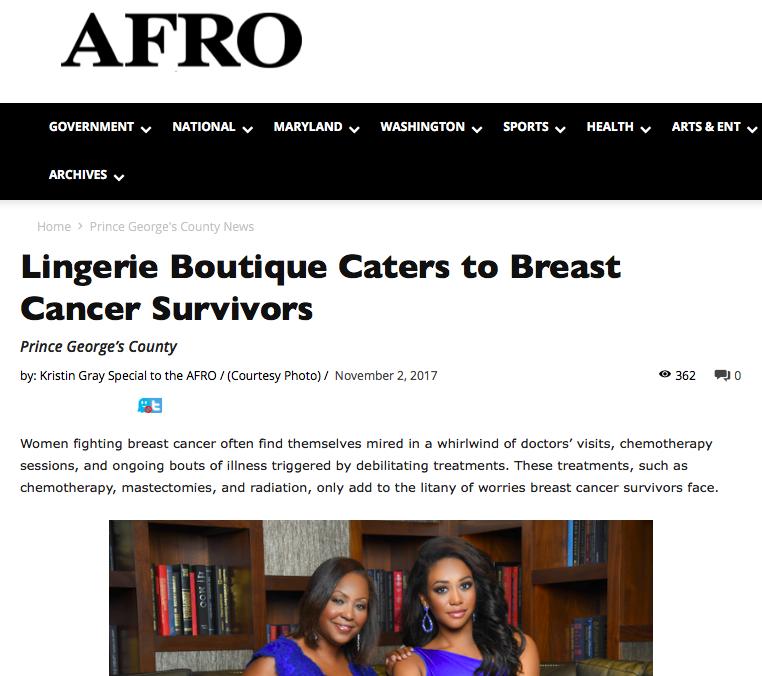 Dr. Regina Hampton Jasmine Jones Cherry Blossom Intimates Afro Newspaper