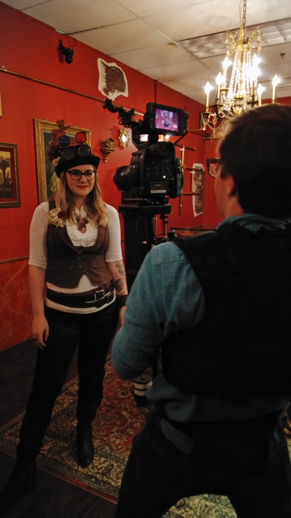 Filming one the five player-initiated cutscenes in  Curious Case of Gillian Grace