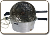 The electric pot used to make pita bread one by one