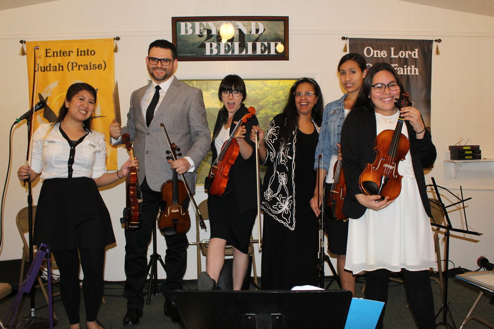 Anniversary Concert March 1  (Left to right) Stephanie Han, Ignacio Flores, Rachel, Jinette Martinez, Niomi Torres, Susan Hernandez.