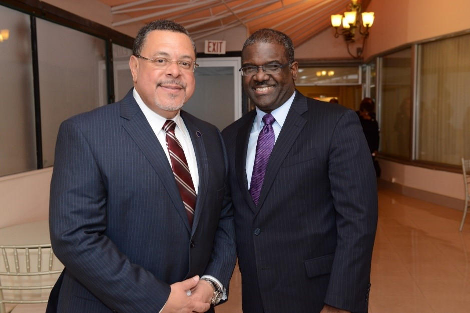 Pictured above (left to right): Greg Adams, Candidate for Port Chester Mayor, and Ken Jenkins