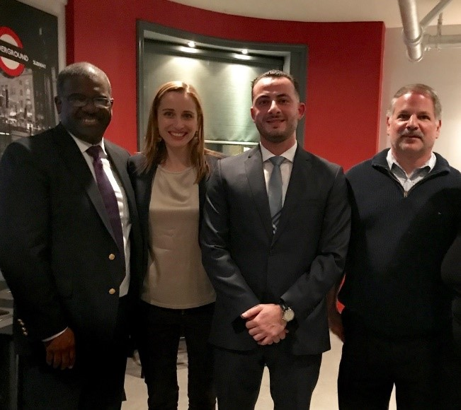 Pictured Above (left to right): Ken Jenkins, candidate for County Executive,Candidates for Tuckahoe Trustees Kathryn Thompson and Nicholas Naber, and Anthony Fiore, Jr.