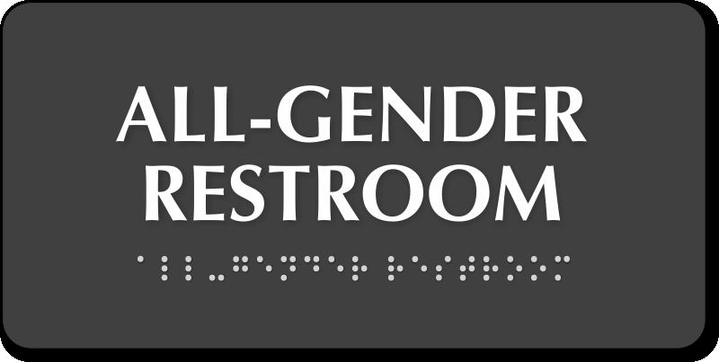 All Gender Federal Restrooms Sign