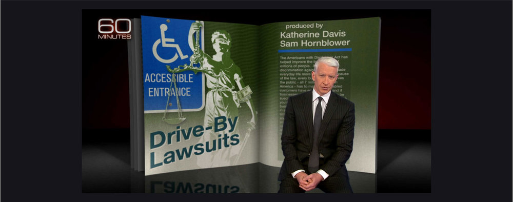 60 Minutes Story About ADA Lawsuits