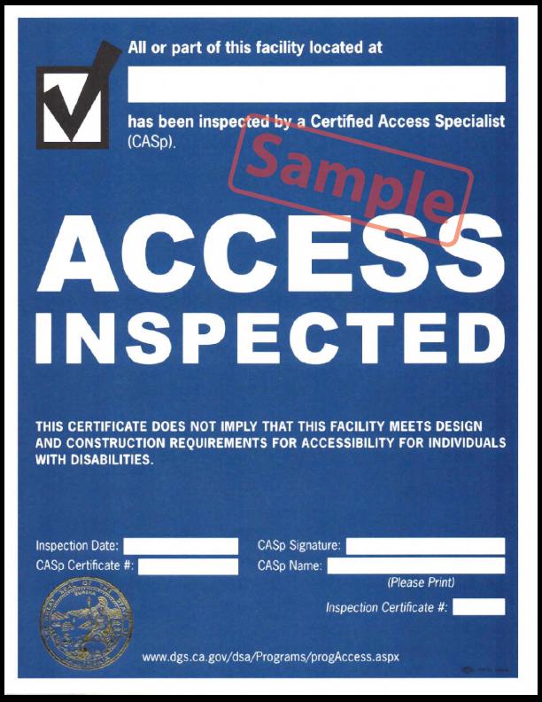 CASp Certificate Access Inspected