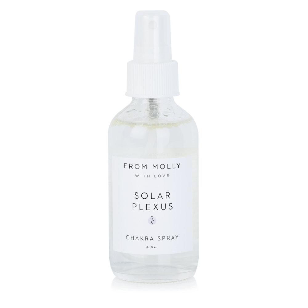 FROM MOLLY WITH LOVE  -SOLAR PLAXUS CHAKRA SPRAY  $18